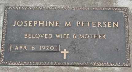 PETERSEN, JOSEPHINE M. - Dixon County, Nebraska | JOSEPHINE M. PETERSEN - Nebraska Gravestone Photos