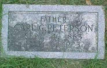 PETERSON, CARL G. - Dixon County, Nebraska   CARL G. PETERSON - Nebraska Gravestone Photos