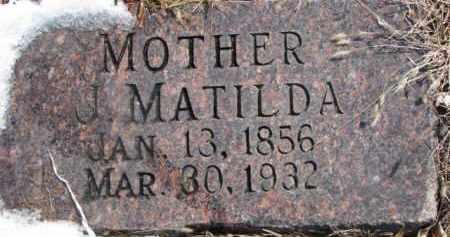 PETERSON, J. MATILDA - Dixon County, Nebraska | J. MATILDA PETERSON - Nebraska Gravestone Photos