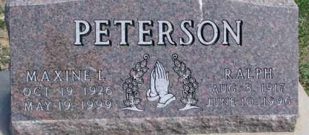 PETERSON, MAXINE L. - Dixon County, Nebraska | MAXINE L. PETERSON - Nebraska Gravestone Photos