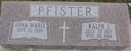 PFISTER, ANNA MARIE - Dixon County, Nebraska | ANNA MARIE PFISTER - Nebraska Gravestone Photos
