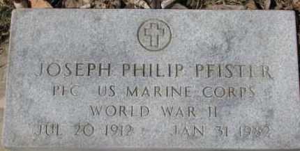 PFISTER, JOSEPH PHILIP - Dixon County, Nebraska | JOSEPH PHILIP PFISTER - Nebraska Gravestone Photos