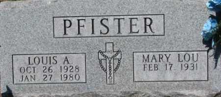 PFISTER, LOUIS A. - Dixon County, Nebraska   LOUIS A. PFISTER - Nebraska Gravestone Photos