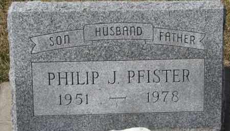 PFISTER, PHILIP J. - Dixon County, Nebraska | PHILIP J. PFISTER - Nebraska Gravestone Photos