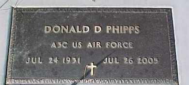 PHIPPS, DONALD D. (MILITARY MARKER) - Dixon County, Nebraska   DONALD D. (MILITARY MARKER) PHIPPS - Nebraska Gravestone Photos