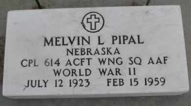 PIPAL, MELVIN L (WW II MARKER) - Dixon County, Nebraska | MELVIN L (WW II MARKER) PIPAL - Nebraska Gravestone Photos