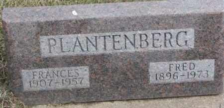 PLANTENBERG, FRANCES - Dixon County, Nebraska   FRANCES PLANTENBERG - Nebraska Gravestone Photos