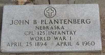 PLANTENBERG, JOHN B. - Dixon County, Nebraska | JOHN B. PLANTENBERG - Nebraska Gravestone Photos