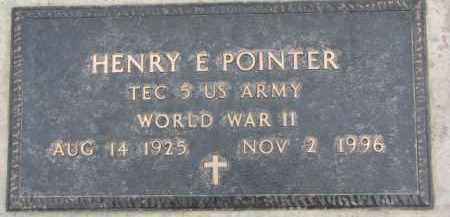 POINTER, HENRY E. (WW II MARKER) - Dixon County, Nebraska | HENRY E. (WW II MARKER) POINTER - Nebraska Gravestone Photos