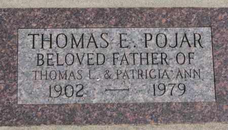 POJAR, THOMAS E. - Dixon County, Nebraska | THOMAS E. POJAR - Nebraska Gravestone Photos