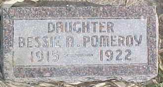 POMEROY, BESSIE A. - Dixon County, Nebraska | BESSIE A. POMEROY - Nebraska Gravestone Photos