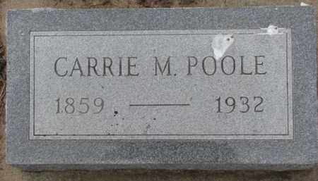 POOLE, CARRIE M. - Dixon County, Nebraska | CARRIE M. POOLE - Nebraska Gravestone Photos