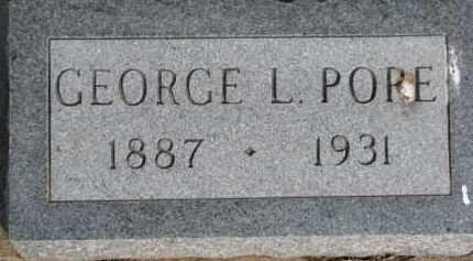 POPE, GEORGE L. - Dixon County, Nebraska | GEORGE L. POPE - Nebraska Gravestone Photos