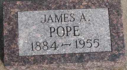POPE, JAMES A. - Dixon County, Nebraska   JAMES A. POPE - Nebraska Gravestone Photos