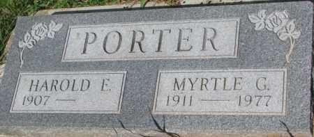 PORTER, HAROLD E. - Dixon County, Nebraska | HAROLD E. PORTER - Nebraska Gravestone Photos