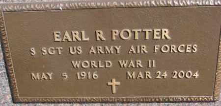 POTTER, EARL R. (WW II MARKER) - Dixon County, Nebraska | EARL R. (WW II MARKER) POTTER - Nebraska Gravestone Photos