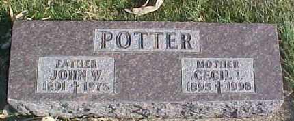 POTTER, JOHN W. - Dixon County, Nebraska | JOHN W. POTTER - Nebraska Gravestone Photos