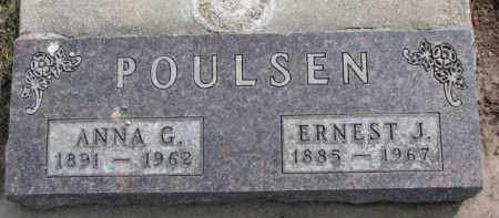 POULSEN, ANNA G. - Dixon County, Nebraska | ANNA G. POULSEN - Nebraska Gravestone Photos