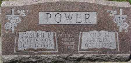 POWER, JOSEPH P. - Dixon County, Nebraska | JOSEPH P. POWER - Nebraska Gravestone Photos