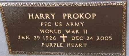 PROKOP, HARRY (WW II MARKER) - Dixon County, Nebraska | HARRY (WW II MARKER) PROKOP - Nebraska Gravestone Photos