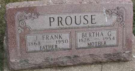 PROUSE, BERTHA G. - Dixon County, Nebraska   BERTHA G. PROUSE - Nebraska Gravestone Photos