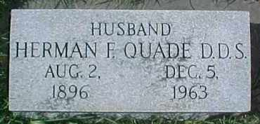QUADE, HERMAN F. - Dixon County, Nebraska | HERMAN F. QUADE - Nebraska Gravestone Photos