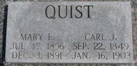QUIST, MARY E. - Dixon County, Nebraska | MARY E. QUIST - Nebraska Gravestone Photos