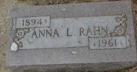 RAHN, ANNA L. - Dixon County, Nebraska | ANNA L. RAHN - Nebraska Gravestone Photos