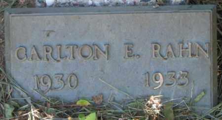 RAHN, CARLTON E. - Dixon County, Nebraska | CARLTON E. RAHN - Nebraska Gravestone Photos