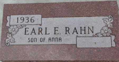 RAHN, EARL E. - Dixon County, Nebraska | EARL E. RAHN - Nebraska Gravestone Photos