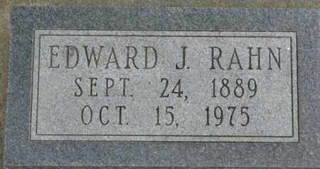 RAHN, EDWARD J. - Dixon County, Nebraska | EDWARD J. RAHN - Nebraska Gravestone Photos