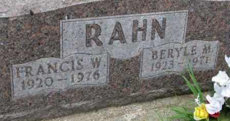 RAHN, BERYLE M. - Dixon County, Nebraska | BERYLE M. RAHN - Nebraska Gravestone Photos