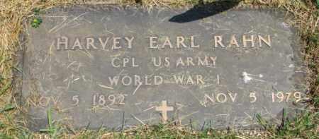 RAHN, HARVEY EARL (WW I MARKER) - Dixon County, Nebraska | HARVEY EARL (WW I MARKER) RAHN - Nebraska Gravestone Photos