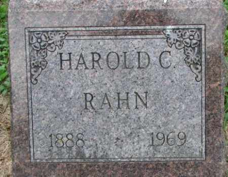 RAHN, HAROLD C. - Dixon County, Nebraska | HAROLD C. RAHN - Nebraska Gravestone Photos