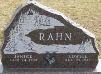 RAHN, JANICE - Dixon County, Nebraska | JANICE RAHN - Nebraska Gravestone Photos