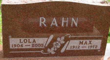 RAHN, MAX - Dixon County, Nebraska | MAX RAHN - Nebraska Gravestone Photos