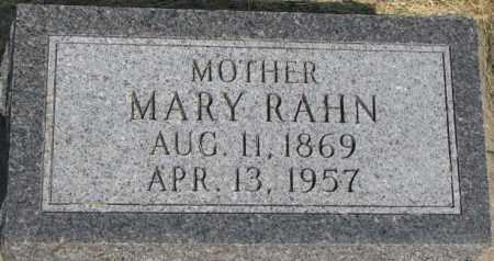 RAHN, MARY - Dixon County, Nebraska | MARY RAHN - Nebraska Gravestone Photos