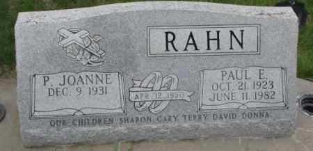 RAHN, PAUL E. - Dixon County, Nebraska   PAUL E. RAHN - Nebraska Gravestone Photos