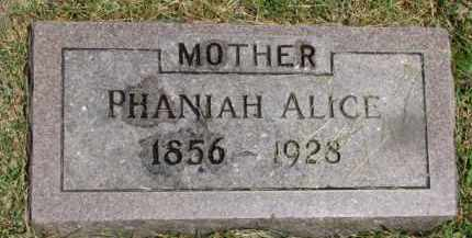 RAHN, PHANIAH ALICE - Dixon County, Nebraska | PHANIAH ALICE RAHN - Nebraska Gravestone Photos