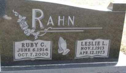 RAHN, LESLIE L. - Dixon County, Nebraska | LESLIE L. RAHN - Nebraska Gravestone Photos