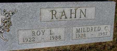 RAHN, ROY L. - Dixon County, Nebraska | ROY L. RAHN - Nebraska Gravestone Photos