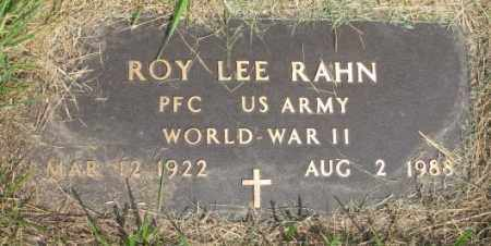 RAHN, ROY LEE (WW II) - Dixon County, Nebraska | ROY LEE (WW II) RAHN - Nebraska Gravestone Photos