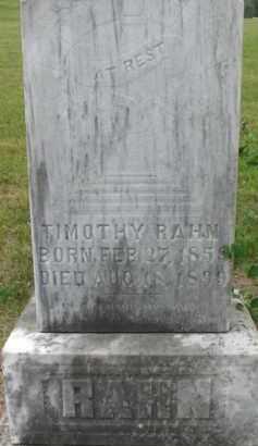 RAHN, TIMOTHY - Dixon County, Nebraska | TIMOTHY RAHN - Nebraska Gravestone Photos