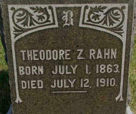 RAHN, THEODORE Z. - Dixon County, Nebraska   THEODORE Z. RAHN - Nebraska Gravestone Photos