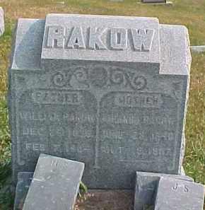 RAKOW, WILLIAM - Dixon County, Nebraska | WILLIAM RAKOW - Nebraska Gravestone Photos