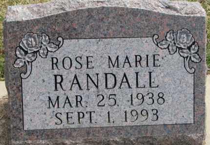 RANDALL, ROSE MARIE - Dixon County, Nebraska   ROSE MARIE RANDALL - Nebraska Gravestone Photos