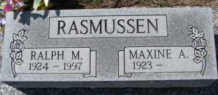 RASMUSSEN, RALPH M. - Dixon County, Nebraska   RALPH M. RASMUSSEN - Nebraska Gravestone Photos
