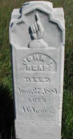 REAP, JOHN F. - Dixon County, Nebraska   JOHN F. REAP - Nebraska Gravestone Photos