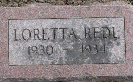 REDL, LORETTA - Dixon County, Nebraska | LORETTA REDL - Nebraska Gravestone Photos