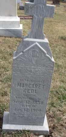 REDL, MARGARET - Dixon County, Nebraska | MARGARET REDL - Nebraska Gravestone Photos